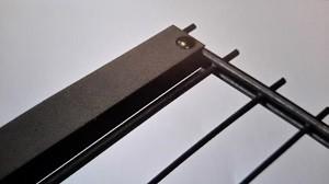 Zaunanschlussset für Doppelstabmatten, anthrazit, 123cm