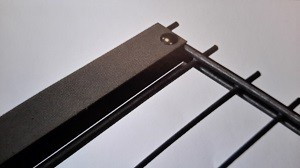 Zaunanschlussset für Doppelstabmatten, anthrazit, 143cm