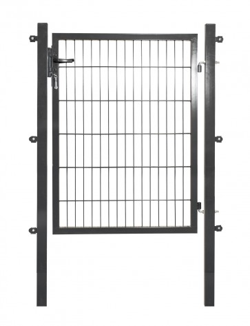 ANGEBOT - Doppelstabmattentor, 6/5/6 mm Füllung, 100cm breit x 100 cm hoch, verzinkt-anthrazit