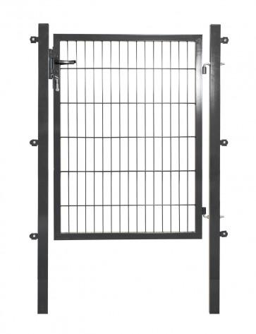 ANGEBOT - Doppelstabmattentor, 6/5/6 mm Füllung, 120cm breit x 120 cm hoch, verzinkt-anthrazit