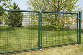 Gartentor, grün, 1,00m hoch - 4,00m breit - Stabile Ausführung