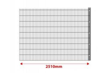 Erweiterung um 2,5 m mit Pfosten für Doppelstabmatten Set 1630mm hoch
