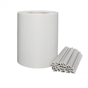 zaunshop pvc sichtschutzstreifen f r doppelstabmatten zink grau leichte ausf hrung. Black Bedroom Furniture Sets. Home Design Ideas