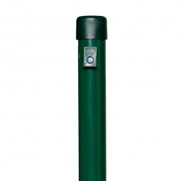 Zaunpfosten, Länge 2,0 m, grün, für Maschendrahtzaun-Höhe 1,5 m