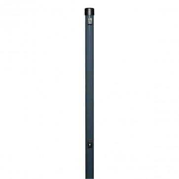 Zaunpfosten, Länge 1,75 m, anthrazit, 38/40mm, für Maschendrahtzaun-Höhe 1,25 m