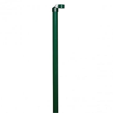 2 x Zaunstrebe, Länge 1,75 m, grün, für 34mm Pfosten, für Maschendrahtzaun-Höhe 1,25 m