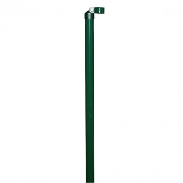 2 x Zaunstrebe, Länge 1,75 m, anthrazit, für 34mm Pfosten, für Maschendrahtzaun-Höhe 1,25 m