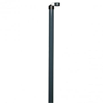 1 x Zaunstrebe, Länge 2,00 m, anthrazit, für 38/40mm Pfosten, für Maschendrahtzaun-Höhe 1,50 m