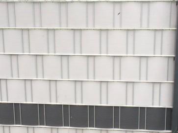 zaunshop pvc sichtschutzstreifen f r doppelstabmatten schwere ausf hrung 50 m rolle zink grau. Black Bedroom Furniture Sets. Home Design Ideas