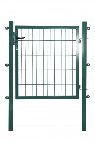 Gartentor mit Einstabmatten-Füllung, 100cm breit x 160 cm hoch, verzinkt-grün
