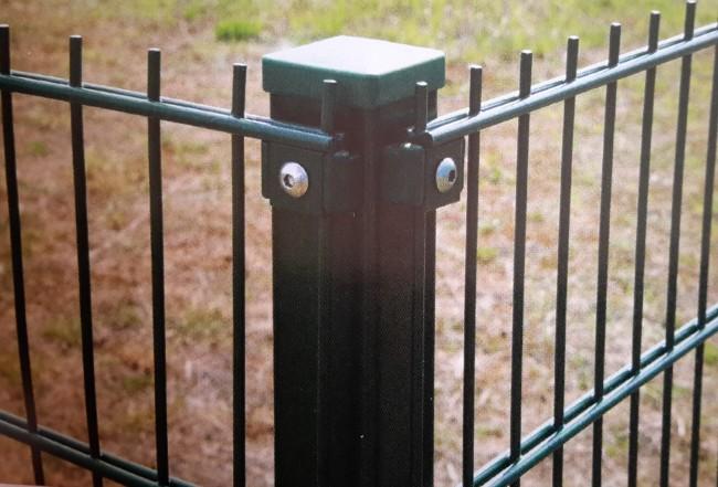 Zaunshop Eck Pfosten Verzinkt Fur 830mm Doppelstabmattenzaun