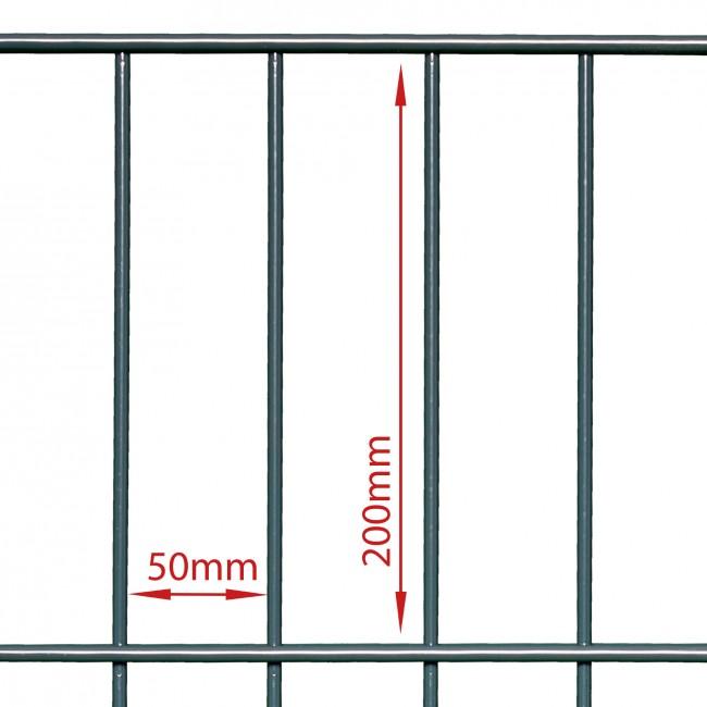 zaunshop doppelstabmattenzaun komplettset anthrazit 1 83 m hoch 17 5 m lang. Black Bedroom Furniture Sets. Home Design Ideas