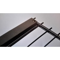 Zaunanschlussset für Doppelstabmatten, verzinkt, 163cm