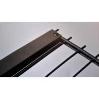Zaunanschlussset für Doppelstabmatten, anthrazit, 163cm