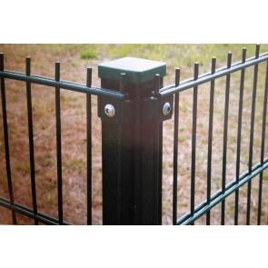 Eck-Pfosten grün für 1230mm Doppelstabmattenzaun