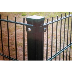 Eck-Pfosten grün für 1430mm Doppelstabmattenzaun