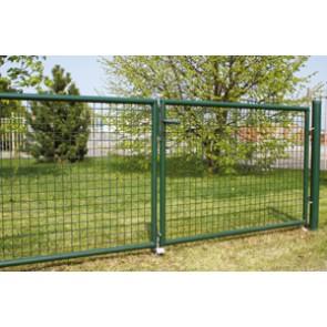 Gartentor, grün, 0,80m hoch - 4,00m breit - Stabile Ausführung