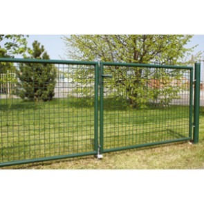 Gartentor, grün, 1,75m hoch - 4,00m breit - Stabile Ausführung