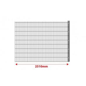 Erweiterung um 2,5 m mit Pfosten für 8-6-8 mm Doppelstabmatten Set 2030mm hoch
