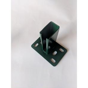 Fussplatte, Pfostenadapter, Bodenplatte, 60x40 mm, grün