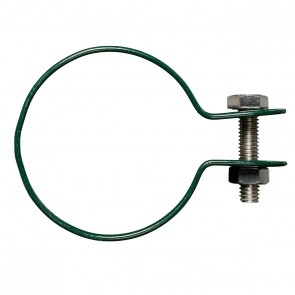 Gelenkschelle für Strebenkappe, grün, für 76 mm Pfosten/Strebe