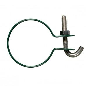 6 Stück Hakenschelle, grün, 38/40 mm