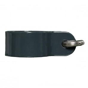 6 Stück Hakenschelle, anthrazit, 38/40 mm