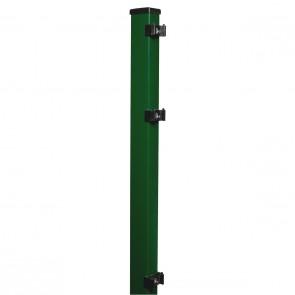 Pfosten grün für 1230mm Doppelstabmattenzaun