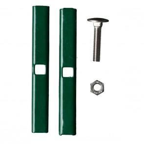 Doppelstabmattenzaun Verbinder   Mattenverbinder, grün, anthrazit oder verzinkt