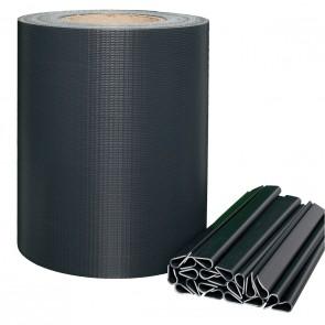 PVC Sichtschutzstreifen für Doppelstabmatten, Anthrazit, leichte Ausführung