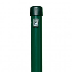 Zaunpfosten, Länge 2,6 m, grün, 38mm Durchmesser, für Maschendrahtzaun-Höhe 2,0 m