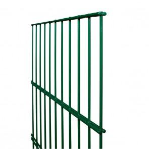 Doppelstabmatte / Zaunfeld, 8-6-8 mm, grün, 1230mm hoch - 2,51 m lang
