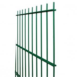 Doppelstabmatte / Zaunfeld, 8-6-8 mm, grün, 1030mm hoch - 2,51 m lang