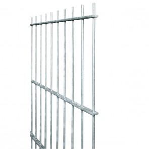 Doppelstabmatte / Zaunfeld, 8-6-8 mm, feuerverzinkt, 1230mm hoch - 2,51 m lang