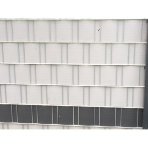 PVC Sichtschutzstreifen für Doppelstabmatten, hellgrau, mittlere Ausführung