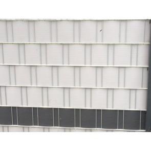 PVC Sichtschutzstreifen für Doppelstabmatten, hellgrau, schwere Ausführung, 50m Rolle