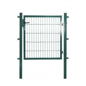 Gartentor mit Einstabmatten-Füllung, 120cm breit x 140 cm hoch, verzinkt-grün