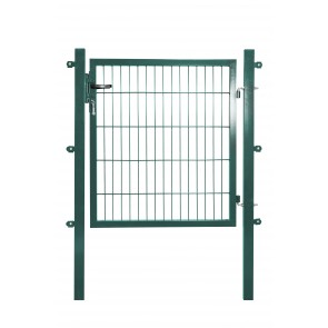 Gartentor mit Einstabmatten-Füllung, 100cm breit x 140 cm hoch, verzinkt-grün