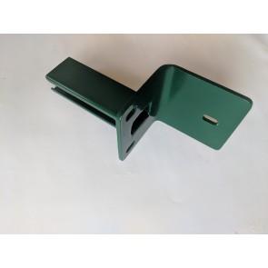 Winkelfussplatte | Pfostenadapter, verzinkt und grün beschichtet, für Pfosten 60 x 40 mm